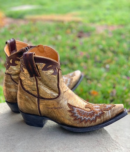 Old Gringo Eagle Beaded Gold Boots BL3295-1 Picture