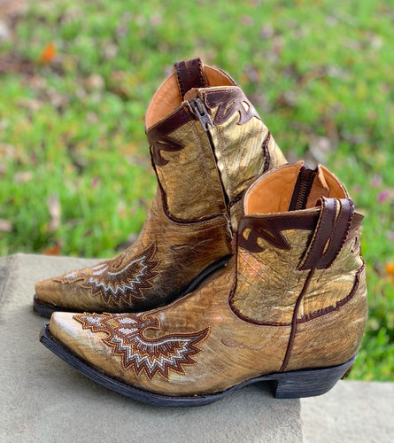 Old Gringo Eagle Beaded Gold Boots BL3295-1 Photo