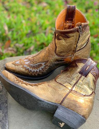 Old Gringo Eagle Beaded Gold Boots BL3295-1 Image