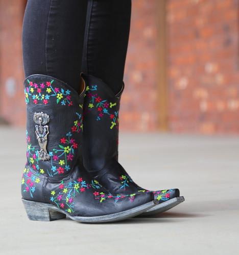 "Old Gringo Katrina Black Multi 10"" Boots L3388-1 Image"
