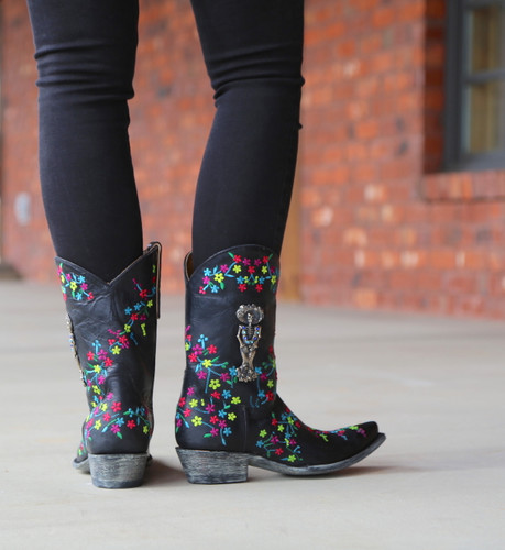 "Old Gringo Katrina Black Multi 10"" Boots L3388-1 Heel"