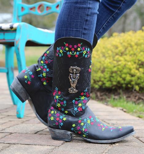 "Old Gringo Katrina Black Multi 13"" Boots L3379-4 Image"