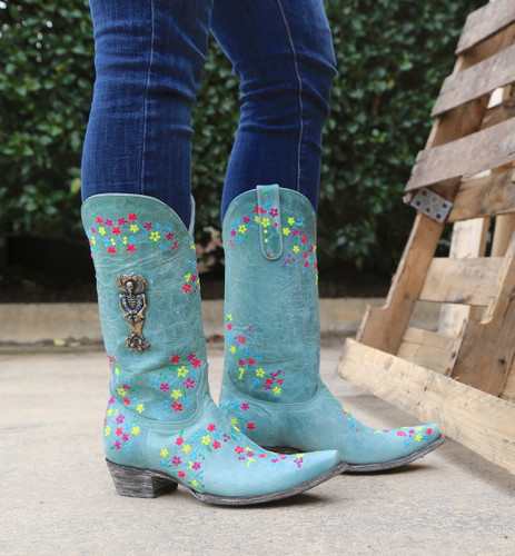 "Old Gringo Katrina Turquoise Multi 13"" Boots L3379-3 Picture"