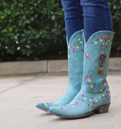 "Old Gringo Katrina Turquoise Multi 13"" Boots L3379-3 Image"