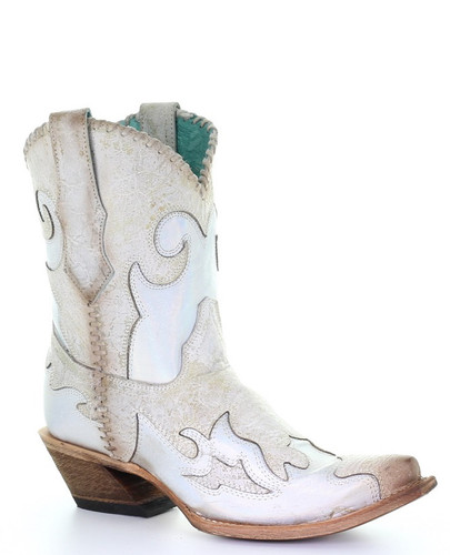 Corral White Inlay and Woven Boots C3547 Picture