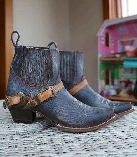 Corral Navy Blue Harness Ankle Boot C3546 Photo