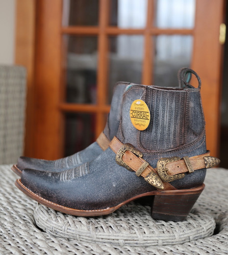 Corral Navy Blue Harness Ankle Boot C3546 Image