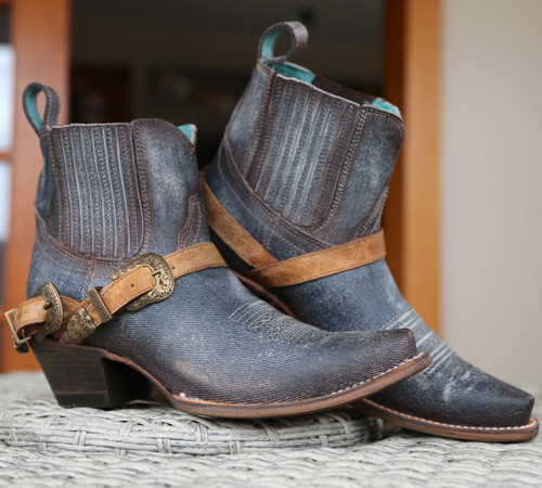 Corral Navy Blue Harness Ankle Boot C3546 Picture