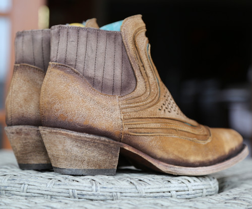 Corral Sand Laser Ankle Boot C3143 Heel