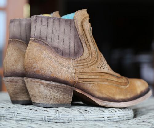 Corral Sand Laser Ankle Boot C3143 Heel