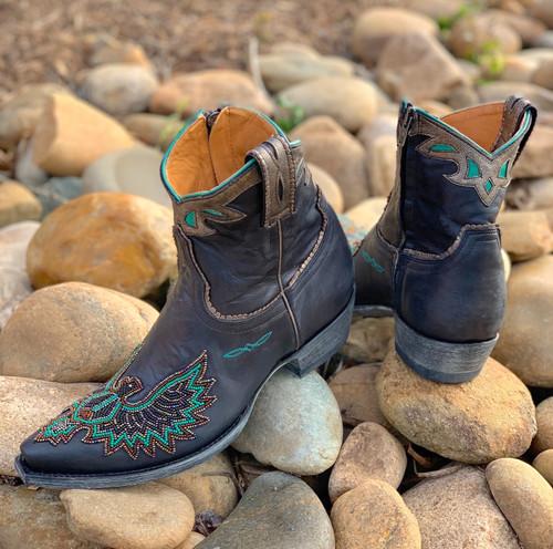Old Gringo Eagle Beaded Black Boots BL3295-2 Heel