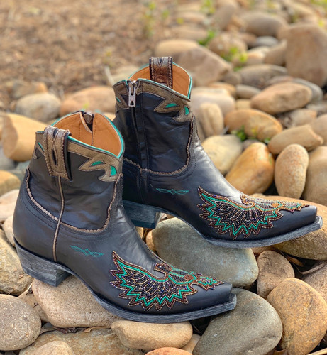 Old Gringo Eagle Beaded Black Boots BL3295-2 Image