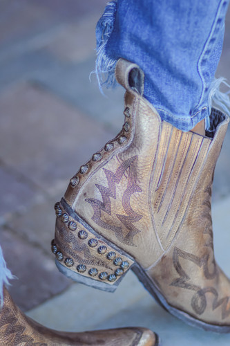 Old Gringo Juno Gold Boots BL3210-2 Detail