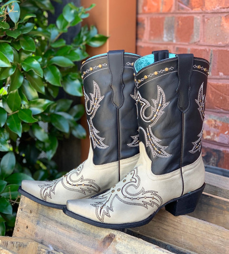 Corral Black Bone Embroidery and Studs Boots E1463 Picture