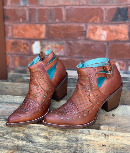 Corral Cognac Studs and Woven Mule E1404 Picture