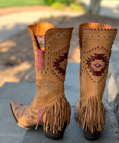 Old Gringo Trail of the Wind Beige L3350-2 Heel