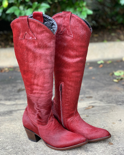 Old Gringo Mayra Plain Red Hair On Boots L1299-3 Picture