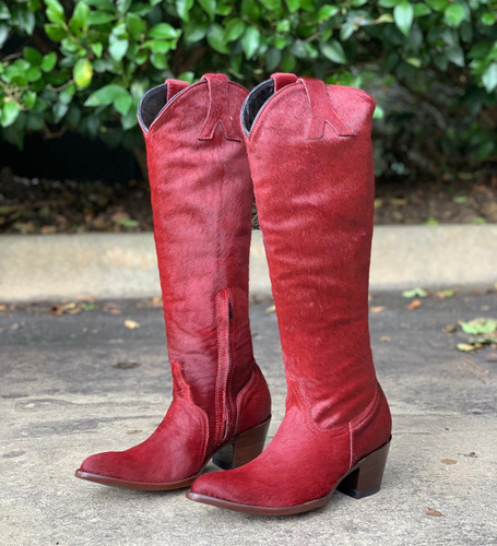 Old Gringo Mayra Plain Red Hair On Boots L1299-3 Image