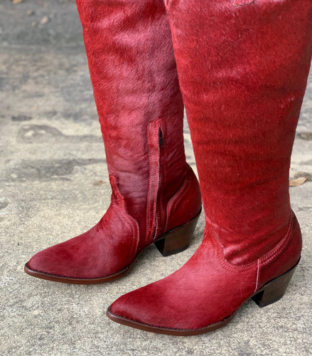 Old Gringo Mayra Plain Red Hair On Boots L1299-3 Photo