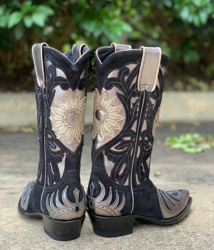Old Gringo Whitney Black Silver Boots L209-14 Heel