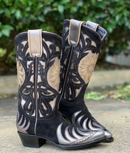 Old Gringo Whitney Black Silver Boots L209-14 Image