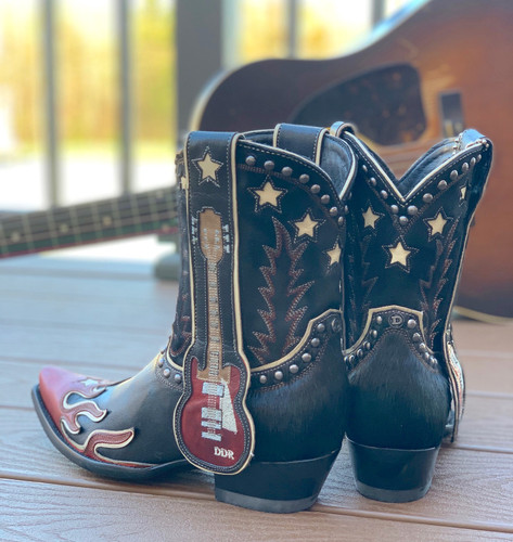 Double D by Old Gringo Ring of Fire Boots DDL079-1 Heel