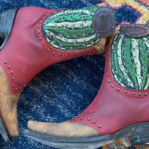 Old Gringo Barrel Cactus Red Boots BL3366-1 Live Photo