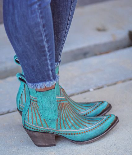 Yippee by Old Gringo Quincy Turquoise Boots YBL429-1 Live Picture