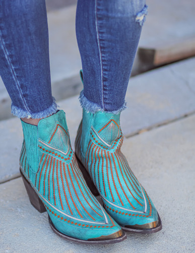 Yippee by Old Gringo Quincy Turquoise Boots YBL429-1 Live Image