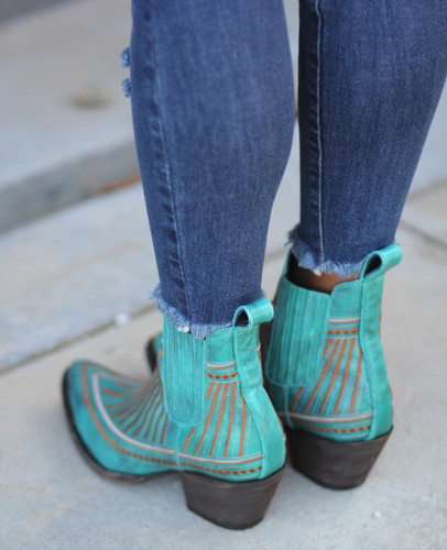 Yippee by Old Gringo Quincy Turquoise Boots YBL429-1 Live Photo