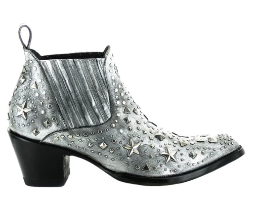 Old Gringo Metal Star Boots Silver BL3323-3 Image