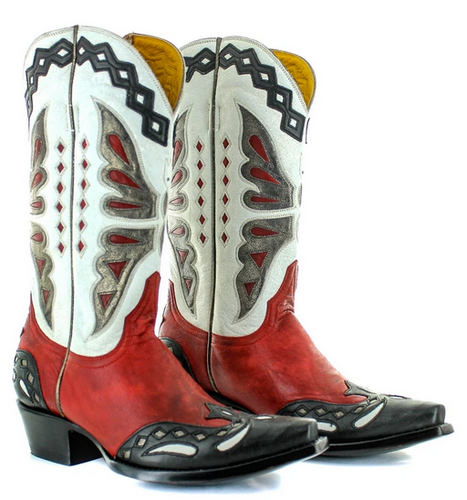 Old Gringo Monarca Red Black Boots L026-49 Picture