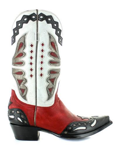 Old Gringo Monarca Red Black Boots L026-49 Image
