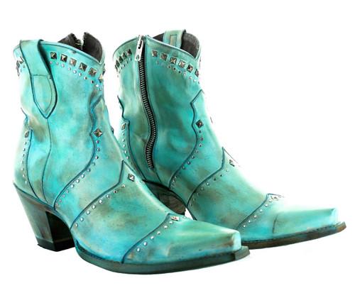 Yippee by Old Gringo Natasha Turquoise Boots YBL433-2 Image