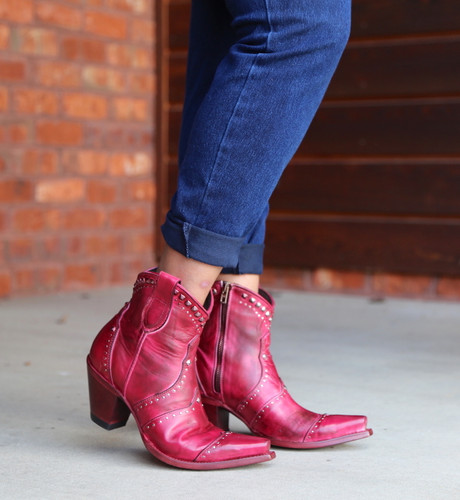 Yippee by Old Gringo Natasha Pink Boots YBL433-3 Toe