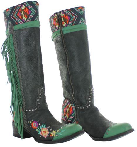 Double D by Old Gringo Dream Weaver Black Boots DDL078-2 Picture
