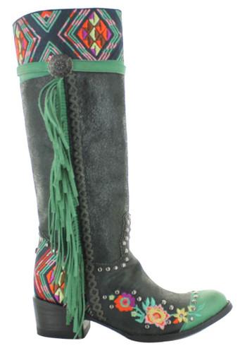 Double D by Old Gringo Dream Weaver Black Boots DDL078-2 Image