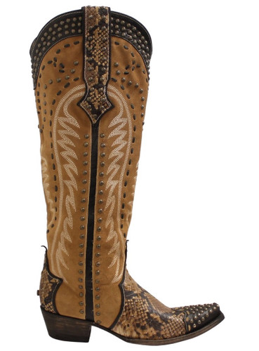 Double D by Old Gringo Snake Charmer Tan Boots DDL083-1 Image