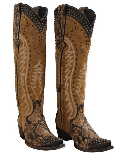 Double D by Old Gringo Snake Charmer Tan Boots DDL083-1 Picture