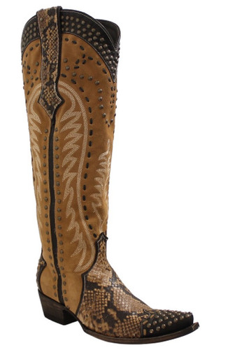 Double D by Old Gringo Snake Charmer Tan Boots DDL083-1 Photo