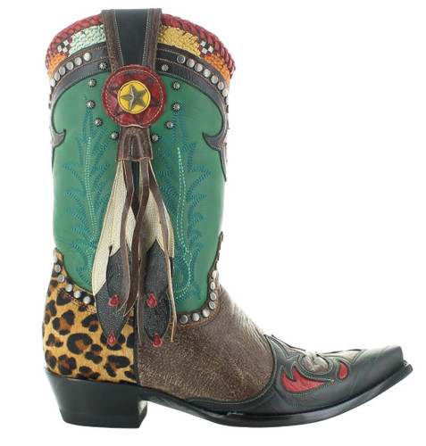 Double D by Old Gringo Last Chief Green Oryx Boots DDL086-1 Image