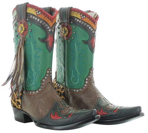 Double D by Old Gringo Last Chief Green Oryx Boots DDL086-1 Picture