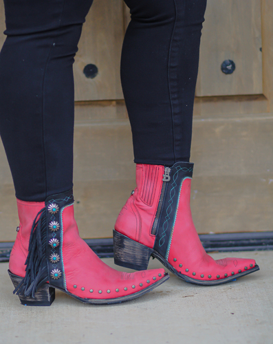 Double D by Old Gringo Apache Kid Red Boots DDBL018-4 Live Image