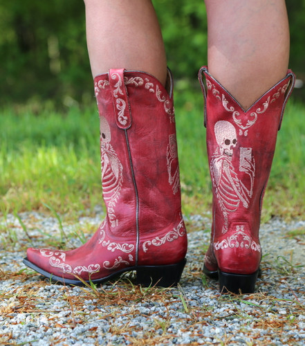 Yippee by Old Gringo Selfie Red Boots YL348-3 Heel