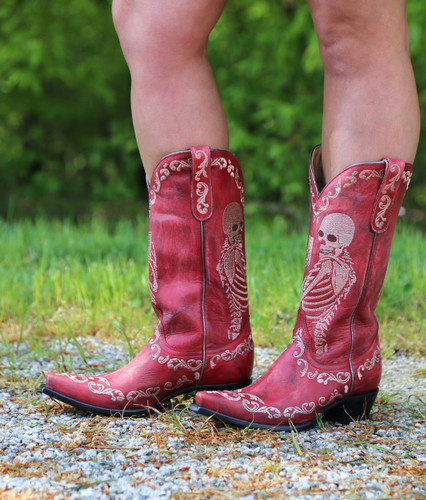 Yippee by Old Gringo Selfie Red Boots YL348-3 Image