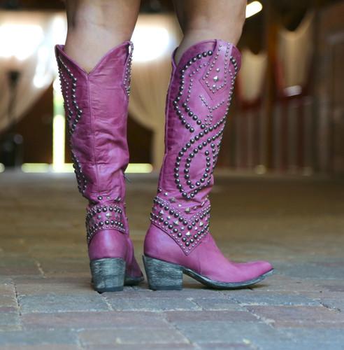 Old Gringo Belinda Pink Boots L903-39 Heel