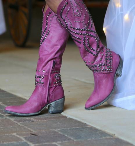 Old Gringo Belinda Pink Boots L903-39 Studs