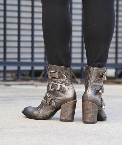 Old Gringo Addison Metallic Gold Boots BL3340-1 Heel