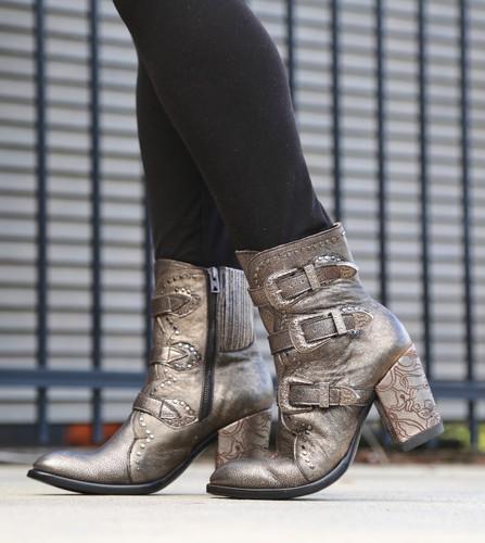 Old Gringo Addison Metallic Gold Boots BL3340-1 Toe