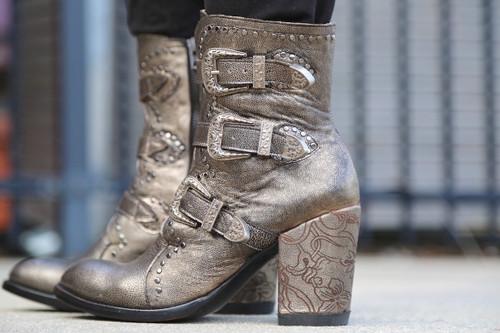 Old Gringo Addison Metallic Gold Boots BL3340-1 Detail